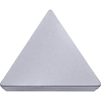 Neutral Turning Insert for Continuous and Finishing in Steel Kyocera TPMT 322XP TN610 Grade Uncoated Cermet 60 Degree Triangle Positive Rake Angle 10 pcs