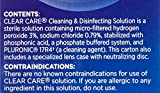 CLEAR CARE Cleaning & Disinfection Solution with