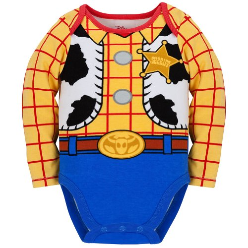 Disney Store Toy Story Woody Onesie Costume Bodysuit Size 6-12 Months with (Woody Toy Story Costume Infant)