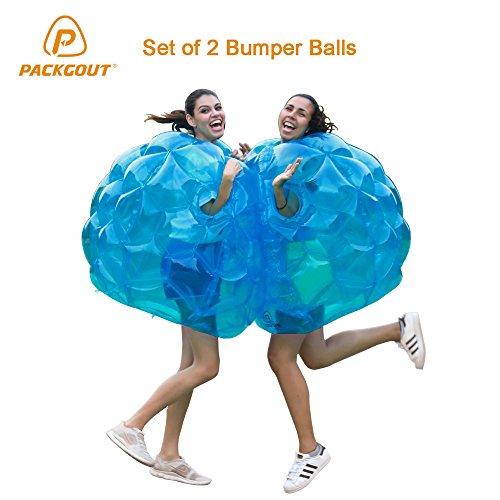 Bumper Balls, PACKGOUT Inflatable Body Bubble Ball Sumo Bumper Bopper for Kids & Adults 36