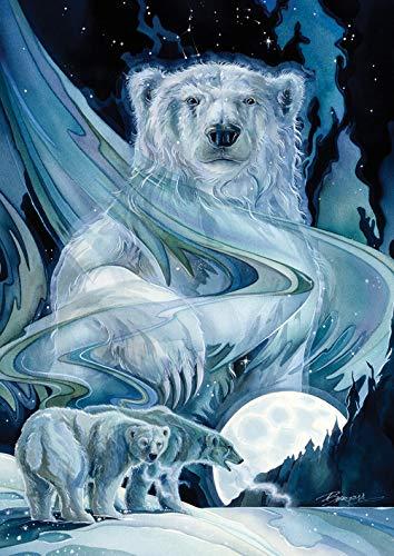 Toland Home Garden 1112244 Moonlight Polar Bears Garden Flag (12.5 x 18-Inch), (12.5