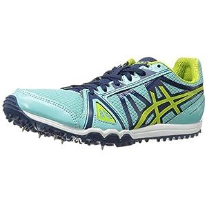 ASICS Women's Hyper-Rocketgirl XC Cross-Country Running Shoe, Aruba Blue/Neon Lime/Poseidon, 8 M US