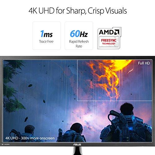 ASUS-VP28UQG-28-4KUHD-3840×2160-1ms-DP-HDMI-Adaptive-SyncFreeSync-Eye-Care-Monitor