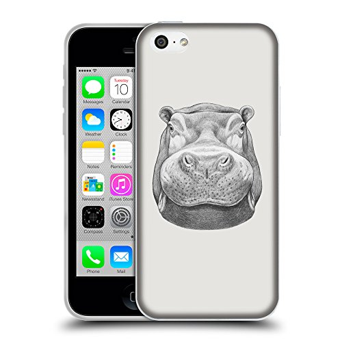 GoGoMobile Coque de Protection TPU Silicone Case pour // Q05270631 hippopotame 2 Platine // Apple iPhone 5C
