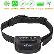 Bark Collar by Nice Dogg with 7 Adjustable Levels, Rechargeable, Humane Dog, No Bark Collar with Vibration and No Harm Shock for Small Medium Large Dog Anti Bark Collar