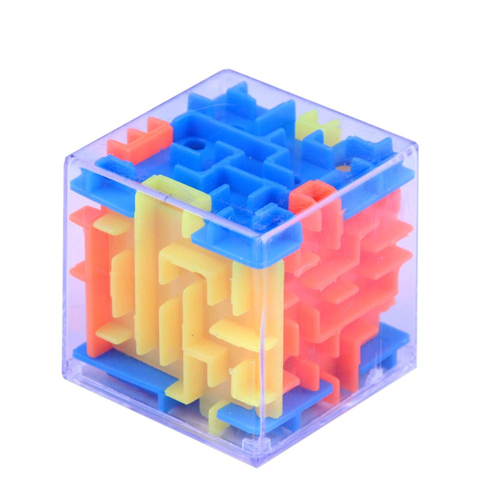 Wenini 3D Cube Puzzle Toy - New 3D Cube Puzzle Maze Toy Hand Game Case Box Fun Brain Game Challenge Fidget Toys (Multicolor) by Wenini (Image #1)