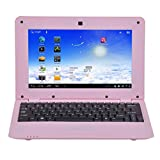 Istyle New 2019 10 Inch Mini Laptop Netbook Android 4.4 Computer Notebook HDMI WiFi with Front Camera - Dual Core (Pink, 10 Inch-8G)