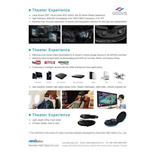 [VR Headset] GOOVIS G2 Virtual Reality Travel 3D Theater VR Glasses HD  Giant Screen Advanced HD 4K