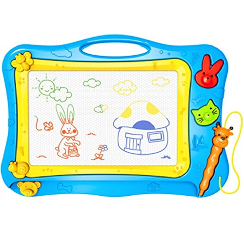 Aerfas Color Magnetic Drawing Board Screen Erasable,painting, graffiti,Sketch, writing Children Toy (Blue)