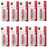 Sticky Back White VELCRO 3.5 Inch X 3/4 Inch 4 Sets Per Pack (10 Pack)
