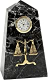 Bey-Berk Legal Marble Desktop Clock