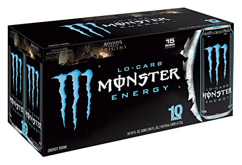 Monster Energy, Lo-Carb, 16 Ounce (Pack of 20) (Monster Energy Cans)