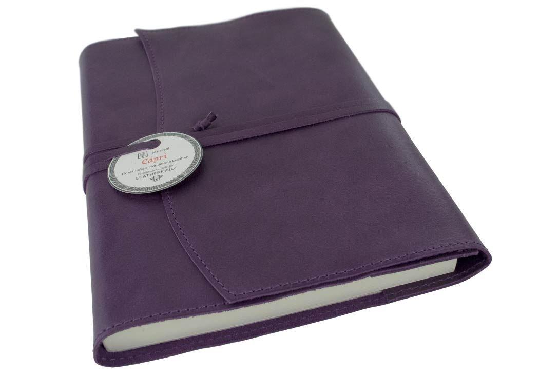 Capri Leder Nachfüllbares Notizbuch Aubergine, A5 Blanko Seiten - Handgefertigt in Italien von LEATHERKIND B079YSH1GS      Günstig