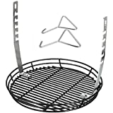 QuliMetal Adjustable Fire Grate/BBQ Temperature Controlling Grill Replacement Part Accessories for Chargriller Kamado, Akorn Charcoal Grills & Most Kamado Grills