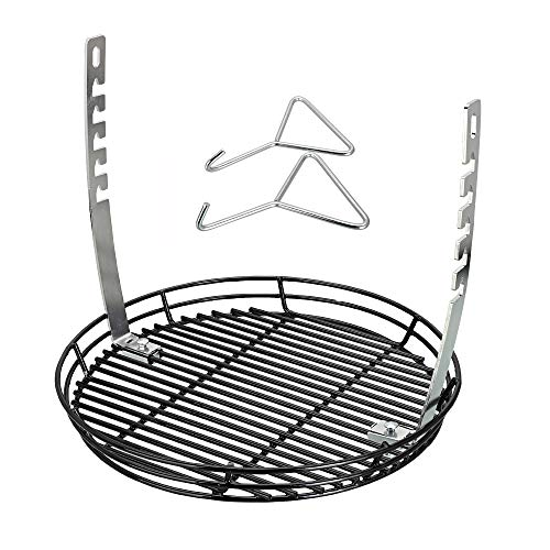 - QuliMetal Adjustable Fire Grate, Vortex, Ash Basket, BBQ Temperature Controlling Grill Replacement Part Accessories for Chargriller Kamado, Akorn Charcoal Grills & Most Kamado Grills