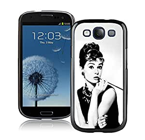 New Fashion Custom Designed Cover Case For Samsung Galaxy S3 I9300 With Audrey Hepburn Breakfast at Tiffanys Black Phone Case