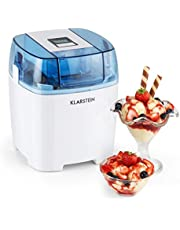 Klarstein Creamberry - ijsmachine, ijsmachine, 4-in-1 ijsmachine, bereiding in 20 minuten, 1,5 liter inhoud, thermische container, energiebesparing, timer, 10 watt, wit