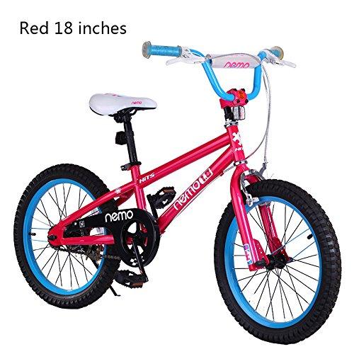 HITS(ヒッツ) Nemo 子供用 自転車 フロントキャリパーブレーキ リア バンドブレーキ 児童用 バイク 18インチ ハンドブレーキモデル 男の子にも女の子にもぴったり 6歳 7歳 8歳 9歳 10歳 B06XPVDCXL ピンク ピンク