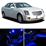 LEDpartsNOW Cadillac CTS 2003-2007 Blue Premium LED Interior Lights Package Kit (5 Pieces)