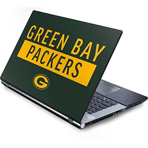 Skinit NFL Green Bay Packers Generic 13in (12.803in w X 8.996in h) Laptop Skin - Green Bay Packers Green Performance Series Design - Ultra Thin, Lightweight Vinyl Decal Protection (Laptop Packers Green Generic Bay)