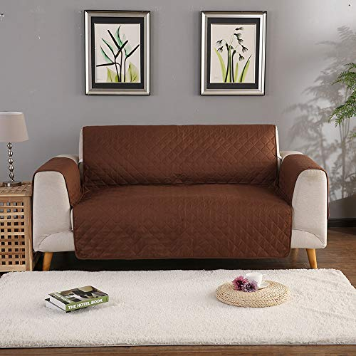 Amyove Sofa Covers, Slipcovers, Solid Color Pets Sofa Cover