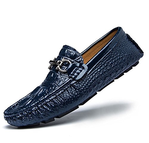 in passeggio Bianca pelle pelle per Blu dimensioni da scarpe Colore britannico all'aria tempo scarpe maschili pigre di il Scarpe libero alligatore aperta 40 in HAOYUXIANG scarpe EqfBnwHRtR