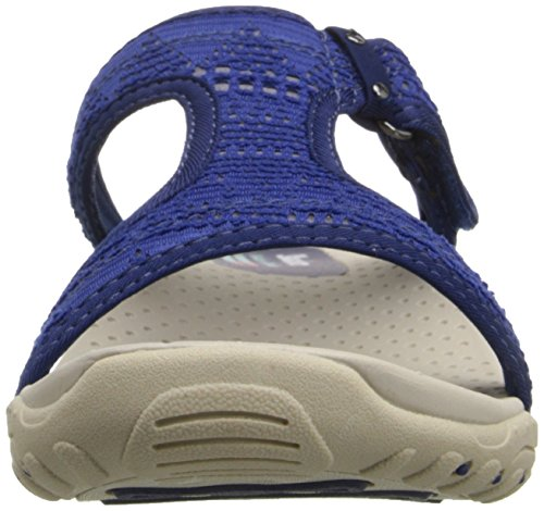 Skechers ReggaeRockfest 47786 - Zuecos de ante para mujer Azul marino/Blanco