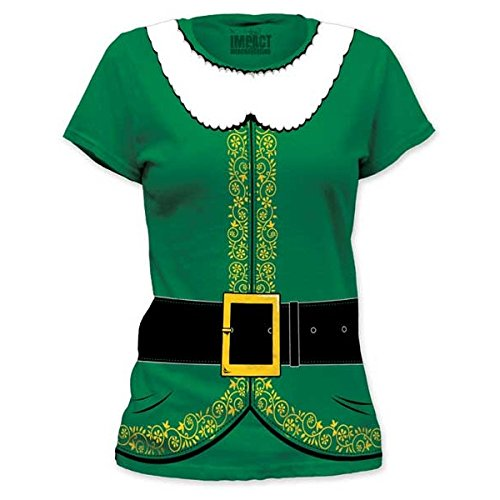[Impact Originals Green Elf Costume Juniors Tunic Tee (Small)] (Film And Tv Costume Design)