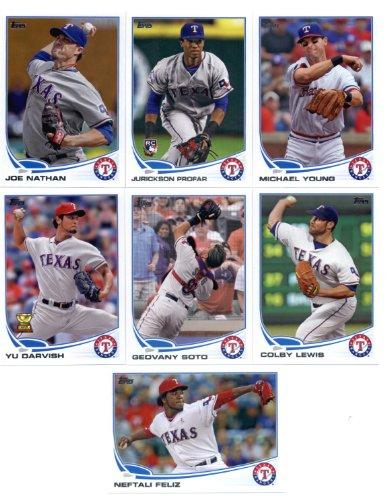 2013 Topps Mini Baseball Texas Rangers Complete Team Set ...