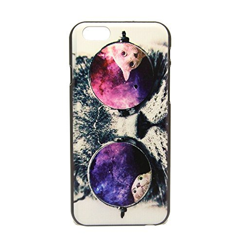 WYECKLK Galaxy Hipster Cat Design Case Cover For IPhone 6 4.7 Inch (Cath Kidston Iphone 5 Case)