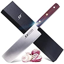 15V 7.5 inch Vegetable meat cleaver knife - High Carbon German Stainless Steel - Full Tang Chinese Chef's Knife with Pakkawood Handle - Onimaru Series