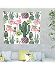 Mandala Aquarell Rosa Flamingo Verde Cactus Pianta Dipinto da Parete Tapisserie Psychedelisch Gobelin Parete Divano Copridivano Testiera Sfondo Telo