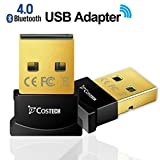 Image of Bluetooth 4.0 USB Adapter, Costech Gold Plated Micro Dongle 33ft/10m Compatible with Windows 10,8.1/8,7,Vista, XP, 32/64 Bit for Desktop , Laptop, computers