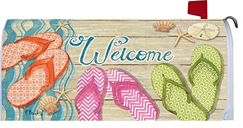 Custom Decor Welcome Mailbox Cover