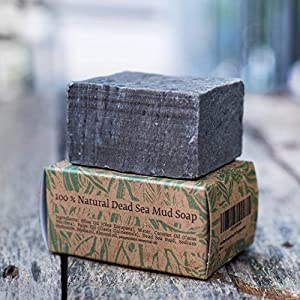 Handmade All Natural Herbal Dead Sea Mud Soap bar Fathers Day Gifts Men Women (peppermint essential oil) SLS free Petrochemical free