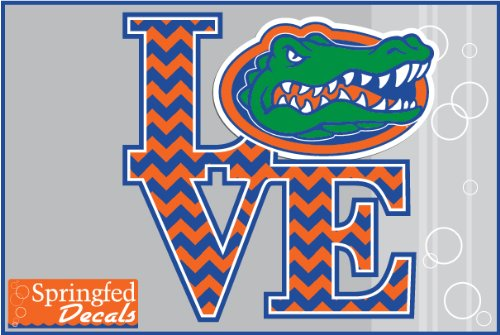 - Florida Gators LOVE THE GATORS w/ CHEVRON STRIPES #1 6