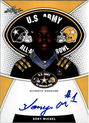 2014 SONY MICHEL Leaf US Army Autograph Rookie Auto RC GEORGIA from Leaf