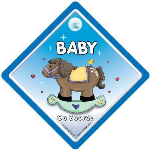 Bebé cartel con ventosa para coche, diseño con texto en ...