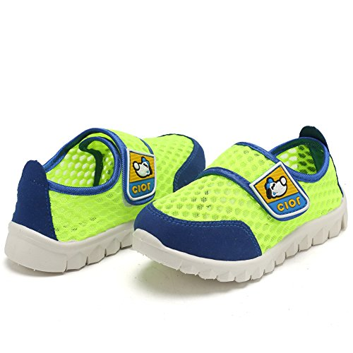 CIOR Kid's Mesh Lightweight Sneakers Baby Breathable Slip-On For Boy and Girl's Running Beach Shoes(Toddler/Little Kid) 40