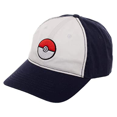 Pokemon Pokeball Sombrero Ajustable con Visera pre-Curva: Amazon ...