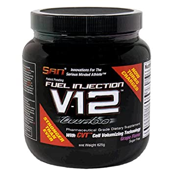 SAN Fuel Injection V12 Turbo Pharmaceutical Grade Dietary Supplement with Cell Volumizing Technology, Grape,