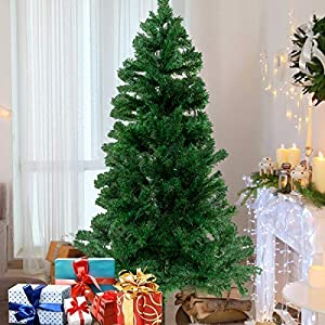 Bocca Christmas Artificial Pine Tree Full Branches with Strong Iron Stand Indoor and Outdoor 42