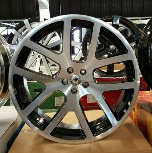 Amazon Com 24 Inch Srt 10 Viper Like Wheels Tires Fit Dodge