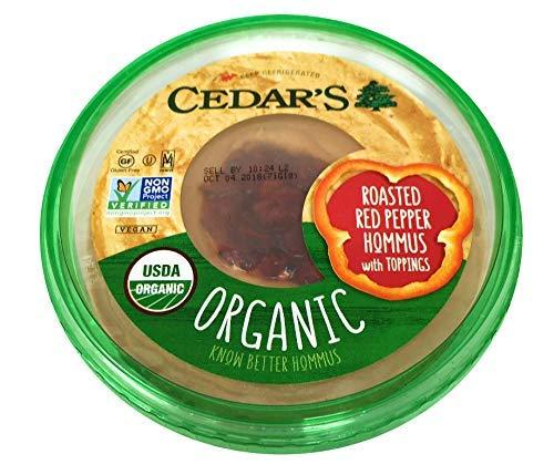 Cedars Mediterranean Food, Hommus Roasted Red Pepper Organic, 10 Ounce