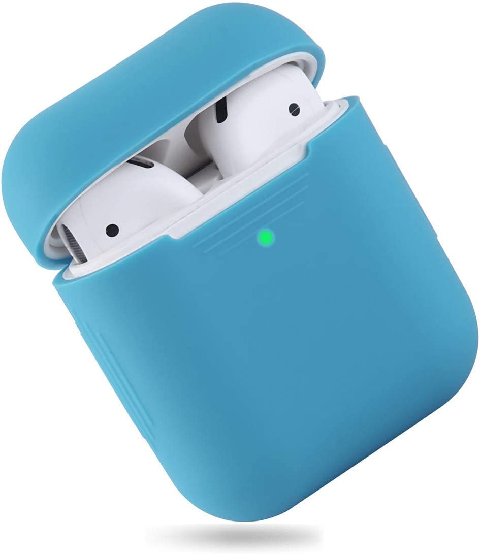 EYEKOP AirPods Case, Upgraded Ultra-Thin Soft Skin Cover Compatible with Apple AirPods 2 & 1 - Indigo Blue