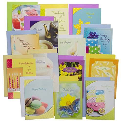 Occasion Card Set (48pk Assortment of Greeting Cards With Color Envelopes For Every Occasions Birthday Thinking of You Sympathy Box)