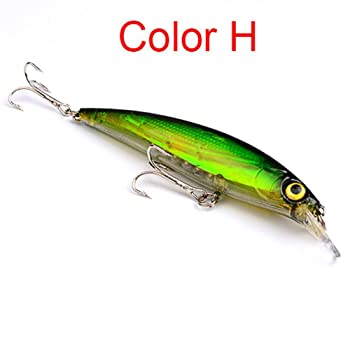 Colorful Minnow Fishing Lures Realistic Hard Fish Bait With Hooks Hot