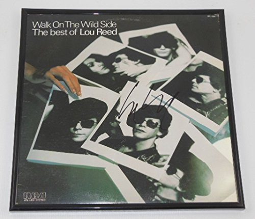 Lou Reed Walk on the Wild Side The Best of Lou Reed Signed Autographed Lp Record Album with Vinyl Loa