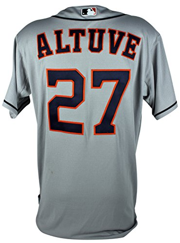 Astros Jose Altuve Game Used Grey Road Majestic Jersey Sept 27, 2014 MLB Holo Autographed Majestic Mlb Baseball Jersey