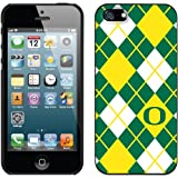 Oregon Ducks NCAA Argyle Design On iPhone 5s / 5 Thinshield Snap-On Case (Black)